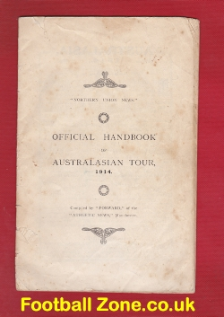 England + Wales Rugby Tour of Australia Handbook 1914 - Antique