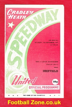 Cradley Heath Speedway v Sheffield 1974