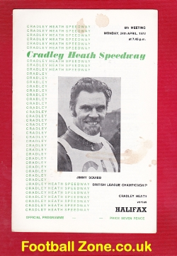 Cradley Heath Speedway v Halifax 1972 - to clear