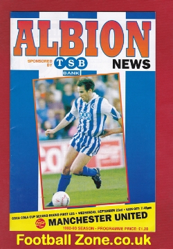 Brighton Hove Albion v Man Utd 1992 - Beckham First Match