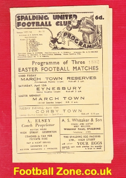 Spalding United v March Town 1952