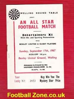 Bexley United v Entertainers X1 1967