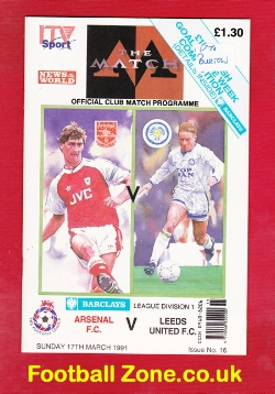 Arsenal v Leeds United 1991 - ITV Sport Issue