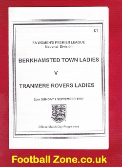 Berkhamsted Town Ladies v Tranmere Rovers 1997