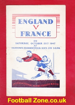 England Rugby v France 1947 - at Fartown Huddersfield