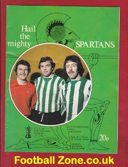 Blyth Spartans v Wrexham 1978 - FA Cup Replay at Newcastle