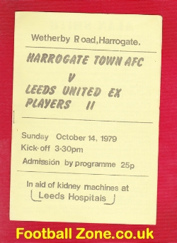 Harrogate Town v Leeds United 1979 - Friendly Match Ex Players