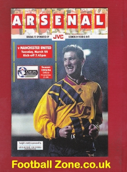 Arsenal v Man Utd 1994