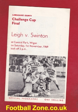 Leigh Rugby v Swinton 1969 - Challenge Cup Final