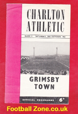Charlton Athletic v Grimsby Town 1962