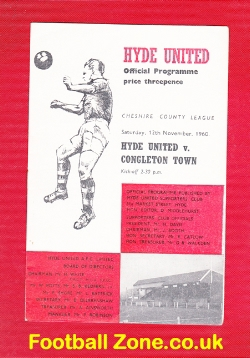 Hyde United v Congleton Town 1960 - Cheshire League