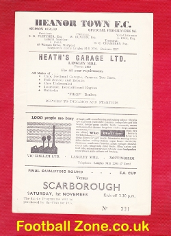 Heanor Town v Scarborough 1958 - FA Cup Qualifying