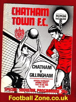 Chatham Town v Gillingham 1980 - Lights Opening + George Best