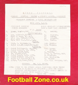 Aldershot Rugby v Royal Aircraft Est 1948 - at Central Command