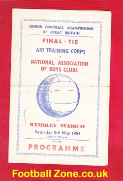 Air Training Corps v National Boys Clubs 1954 - Juniors - Pirate
