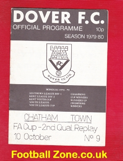 Dover v Chatham Town 1979 - FA Cup Replay