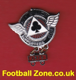 Belle Vue Aces Supporters Speedway Badge + year bar 1975