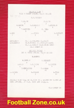 Chatham Town v Sheppey United 1960 - Rare Single Sheet