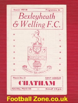 Bexleyheath Welling v Chatham Town 1958 - Kent League