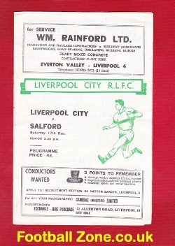 Liverpool City Rugby v Salford 1966
