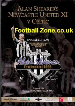 Alan Shearer Testimonial Newcastle United 2006 - Special Edition