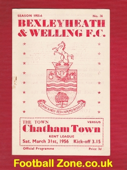 Bexleyheath Welling v Chatham Town 1956 - Kent League