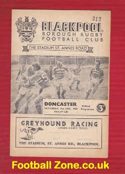 Blackpool Borough Rugby v Doncaster 1960 - St Annes Road