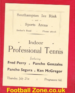 Southampton Tennis Indoor Professional Tennis - Fred Perry 1940