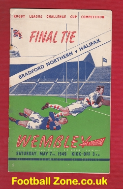 Halifax Rugby v Bradford Northern 1949 - Challenge Cup Final