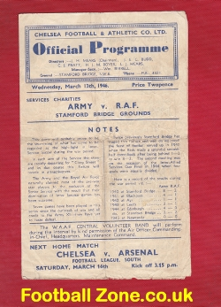 Army v Royal Air Force RAF 1946 - at Chelsea + Matthews + Wright