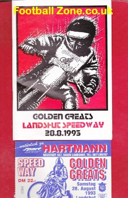 Germany Barry Briggs Speedway Greats Meeting 1993 + ticket