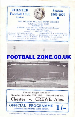 Chester City v Crewe Alexandra 1969