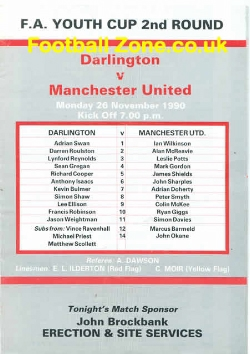 Darlington v Man Utd 1990 - Youth Match - Ryan Giggs