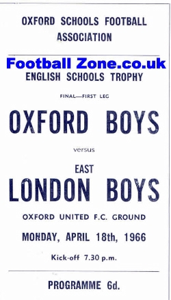 Oxford Boys v London Boys 1966 - Schools Trophy Final