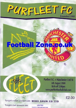 Purfleet v Man Utd 2000 - Friendly Match