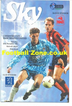 Coventry City v Man Utd 1993