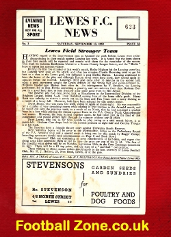 Lewes v Eastbourne 1952 - Sussex County League
