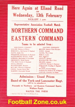 Army Northern Command v Eastern Command 1946 - at Leeds