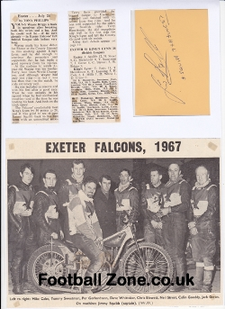 Exeter Speedway Jimmy Squibb Signed Sheet + News 1960s