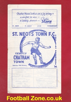 St Neots Town v Chatham Town 1965