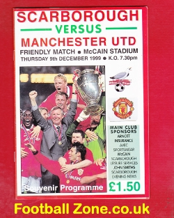 Scarborough v Man Utd 1999 - Friendly Match at McCain Stadium