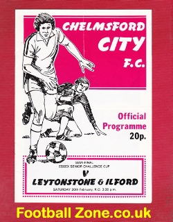 Chelmsford City - Leytonstone Ilford 1982 - Semi - Multi Signed