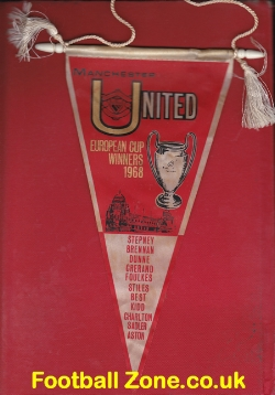 Manchester United Football Pennant 1968 - European Winners