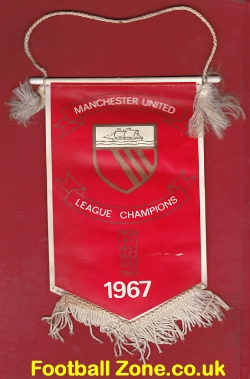 Manchester United Football Pennant 1967 - League Champions