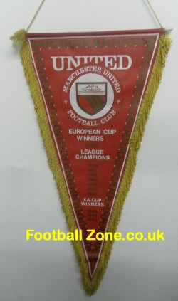 Manchester United Football Pennant 1960s Honours