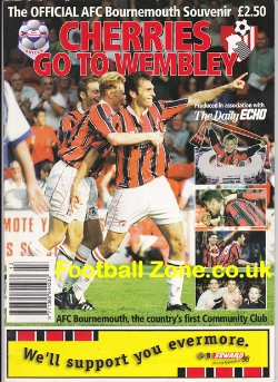 Bournemouth Cherries To Wembley Souvenir 1998