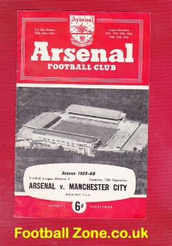 Arsenal v Man City 1959