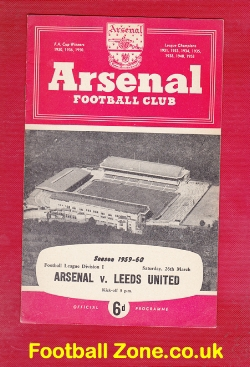 Arsenal v Leeds United 1960