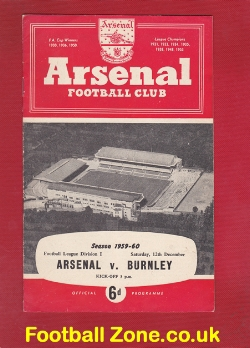 Arsenal v Burnley 1959
