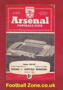 Arsenal v Sheffield Wednesday 1959 - to clear